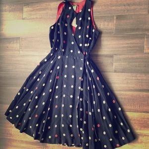 Anthropologie Dresses - Anthropologie polka-dot wrap dress